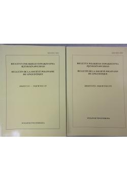 Biuletyn Polskiego towarzystwa językoznawczego, 2 tomy
