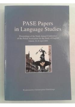 Pase Papers in Language Studies