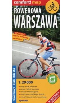 Rowerowa Warszawa rowerowy plan miasta 1:29 000