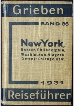 Grieben Reiseführer. New York, 1931r.
