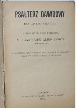 Psałterz Dawidowy dla użytku wiernych, 1917 r.