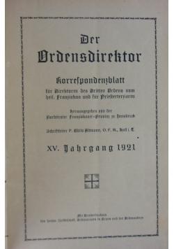 Der Ordensdirektor, 1921r.