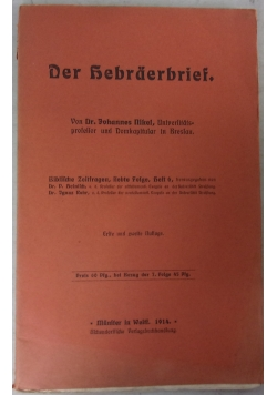 Der Hebraerbrief, 1914 r.