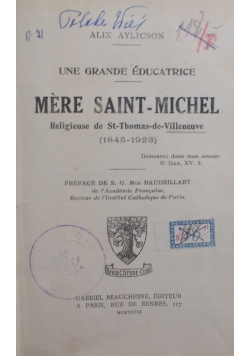 Mere saint-michel, 1927 r.