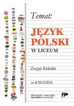 Język Polski w Liceum nr 4 2015/2016