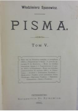 Pisma tom V, 1892 r.