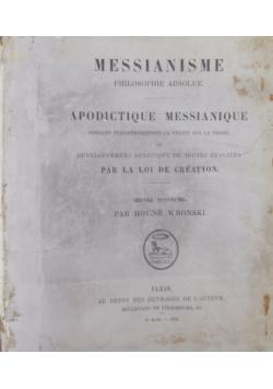 Apodictique Messianique, 1876r