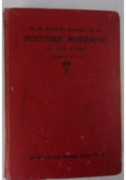 Historie moderne 1715-1815, 1906r.