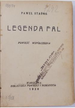 Legenda fal, 1928r.