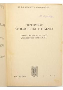 Przedmiot apologetyki totalnej