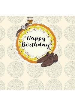 Karnet kwadrat CL0217 Urodziny Buty