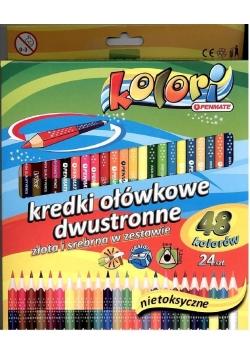 Kredki Premium Kolori 24szt-48 kolorów PENMATE