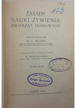 Zasady nauki żywienia zwierząt domowych, 1914 r.