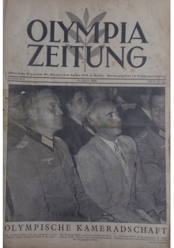 Olympia Zeitung 1936 r.  Nummer 1-30