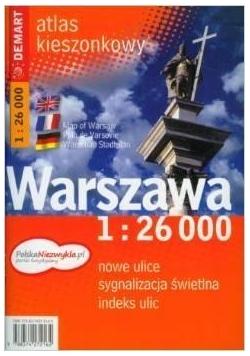 Warszawa 1:26 000 kieszonkowy atlas miasta