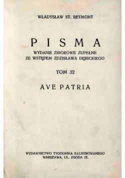 Pisma Ave Patria, 1935r.
