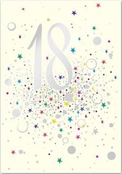 Karnet B6 z kopertą Urodziny 18