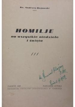 Homilje na wszystkie niedziele i święta, 1936r.