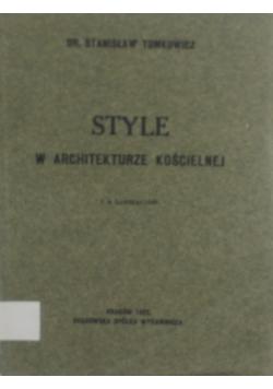 Style w architekturze kościelnej, 1923 r.