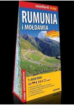 Comfort!map Rumunia, Mołdawia 1:80 0000 mapa 2018