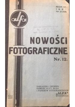 Nowości fotograficzne, wybrane numery 1931-1937