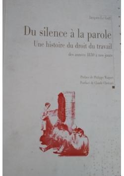 Du silence a la parole