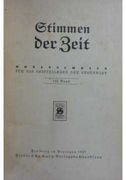 Stimmen der Zeit, 112 band, 1927 r.