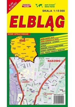 Elbląg 1:15 000 plan miasta PIĘTKA