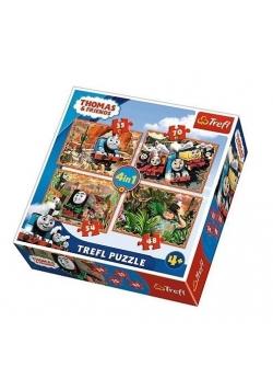 Puzzle 4w1 Podróże po świecie TREFL