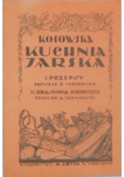 Kosowska kuchnia jarska,reprint 1929 r.