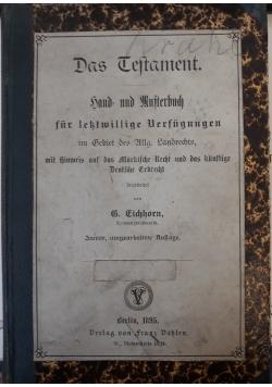 Das Testament, 1895 r.