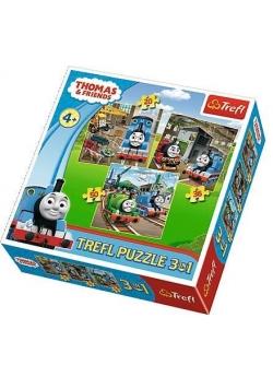 Puzzle 3w1 Tomek rusza do akcji TREFL
