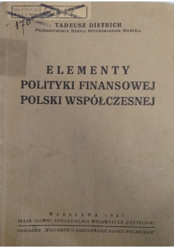 Elementy polityki finansowej Polski współczesnej, 1947r.