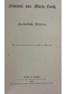 Stimmen aus Maria- Laach 57 band, 1899r.