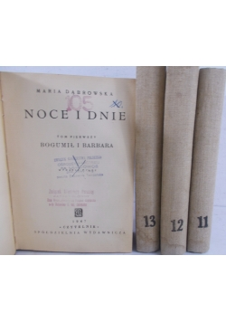 Noce i dnie,zestaw 4 książek,1947r