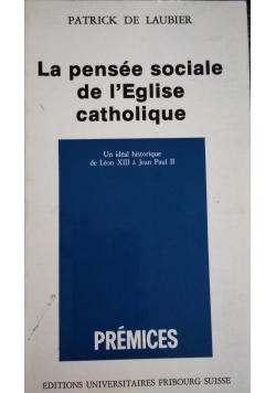 La pensee sociale se lEglise catholique