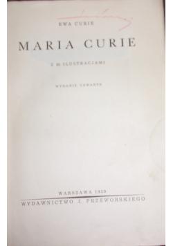 Maria Curie, 1939 r.