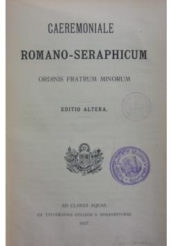 Caeremoniale Romano-Seraphicum, 1927r