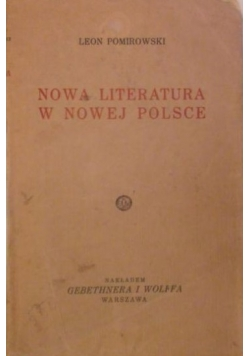 Nowa literatura w nowej Polsce 1933 r.