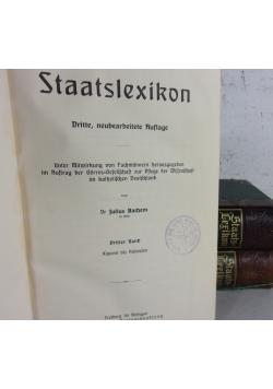 Staatslexikon, zestaw 3 tomowy