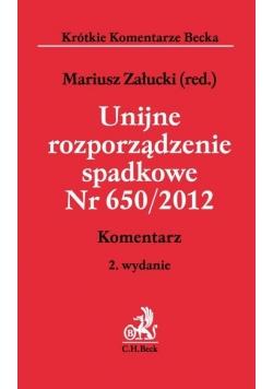 Unijne rozporządzenie spadkowe Nr 650/2012