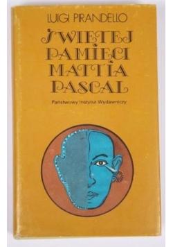 Świętej pamięci Mattia Pascal