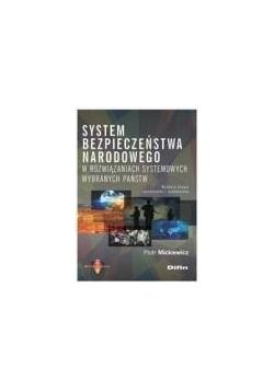 System bezpieczeństwa narodowego w rozwiązaniach..