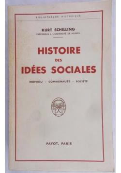 Histoire des idees Sociales
