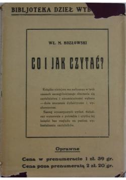 Co i jak czytać?, 1926r.