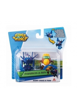Super Wings 2-pak figurek transf. Agent Chase&Todd