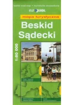 Beskid Sądecki - mapa turystyczna