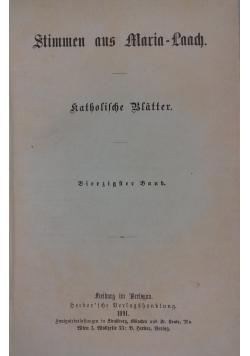 Stimmen aus Maria-Laach katholische Blätter, 1891 r.