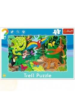 Puzzle ramkowe 15 Las tropikalny TREFL