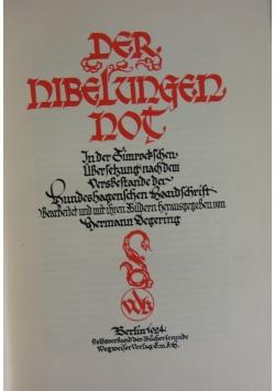 Der nibelzungen not. 1924 r.